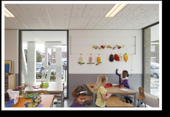 sala de aula que recebem luz natural