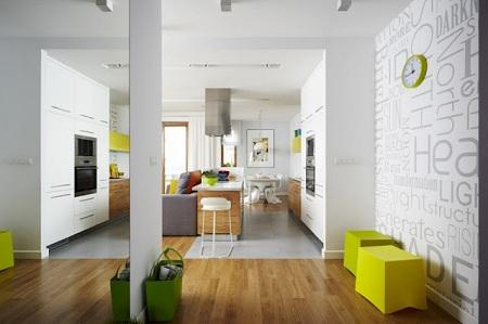 Apartamento Criativo: cor e forma.TK Designer